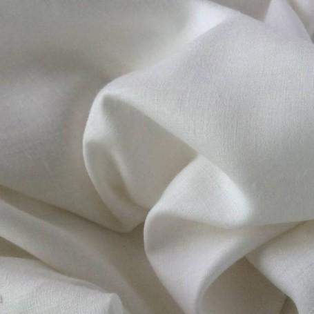 Tissu lin tissu blanc