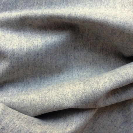 Tissu drap de laine caban chiné gris clair