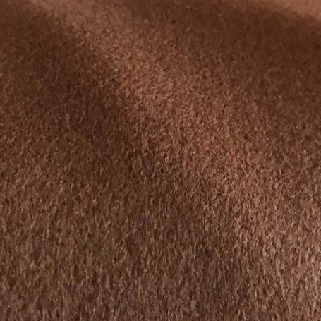Drap de laine cachemire marron doré
