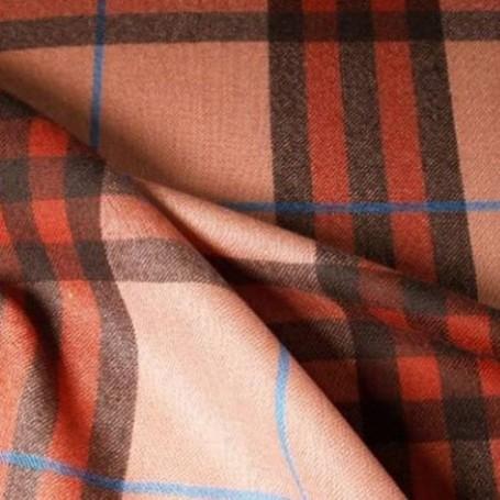 Tissu écossais de laine saumon