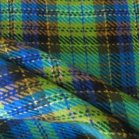 Tissu écossais de laine vert