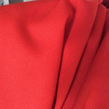 Tissu laine décoration rouge