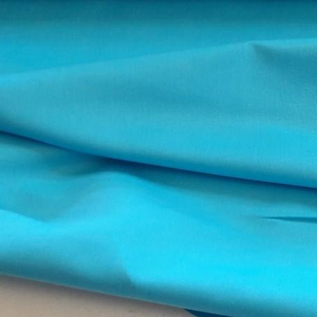Tissu en coton et lin sergé turquoise