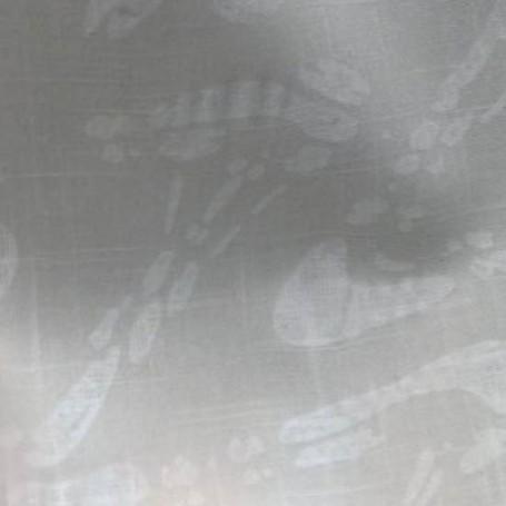 Tissu en coton imprimé gaufré écru