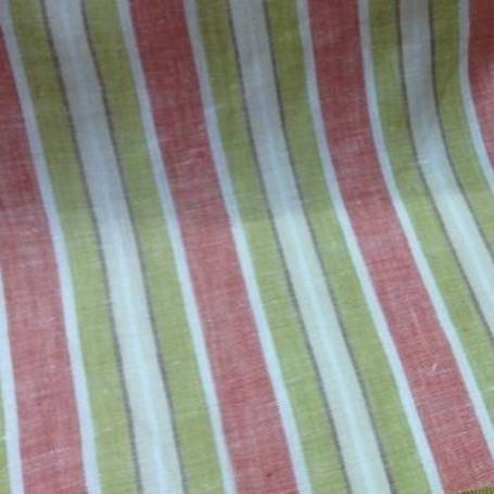 Tissu en lin beige rayures