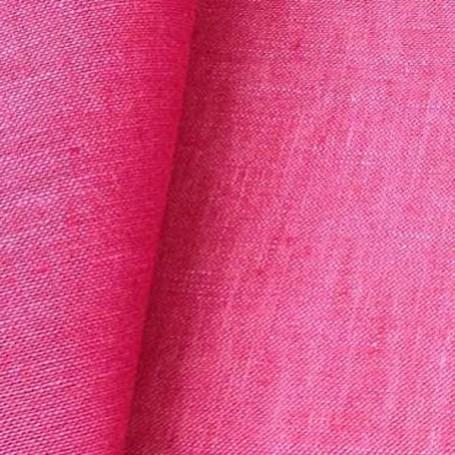 Tissu en lin rose