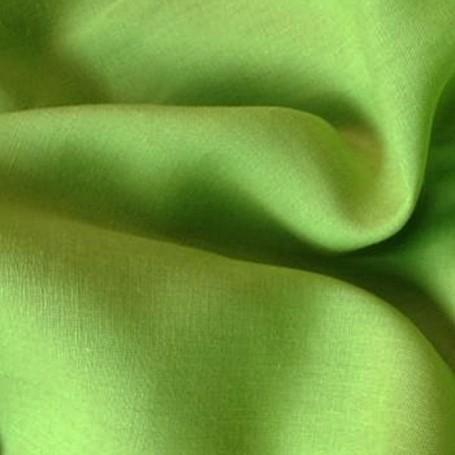 Tissu en lin toile vert anis