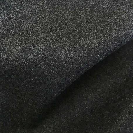 Tissu flanelle peignée gris foncé