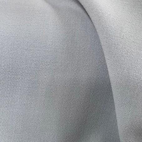 tissu crepe de laine gris perle