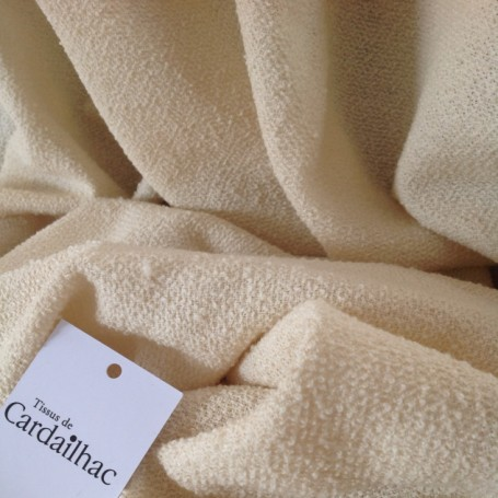 bouclette laine écru cardailhac