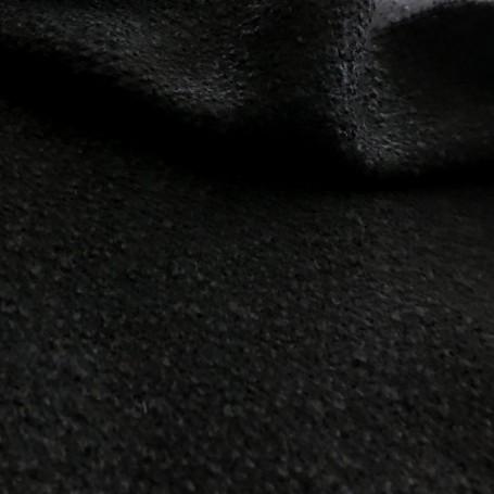 Tissu laine bouillie noir
