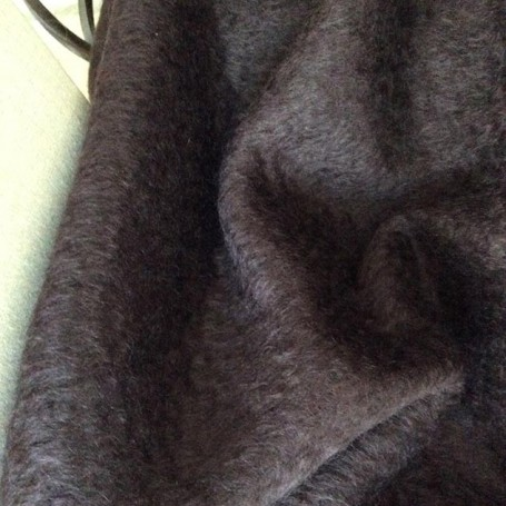 Tissu de laine en mohair marron