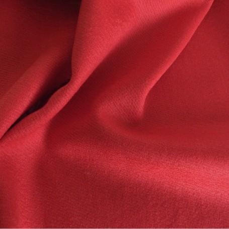 tissu laine gabardine rouge