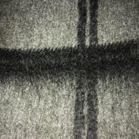 Tissu laine grands carreaux noir sur fond bronze