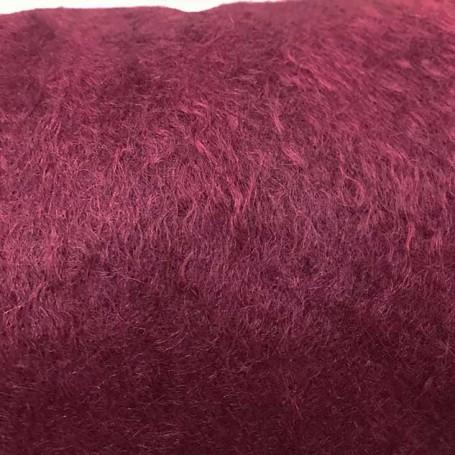 Tissu de laine mohair prune