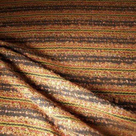 Tissu à rayures marron et orange