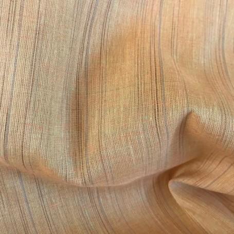 tissu rayé orange tissu lin