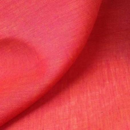 Tissu lin rouge