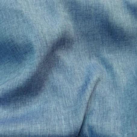 Tissu lin bleu