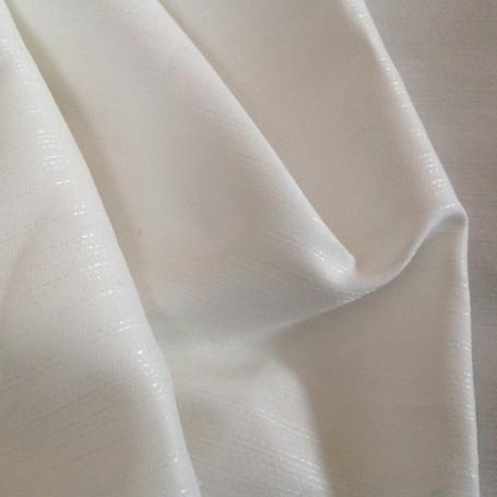 tissu brillant coton blanc