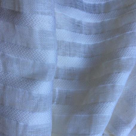 Tissu de laine et lin tissu blanc