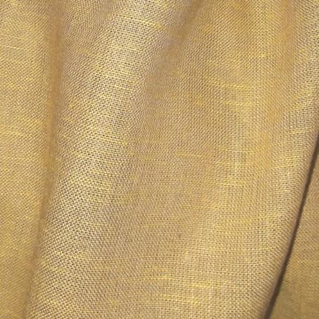 tissu lin jaune