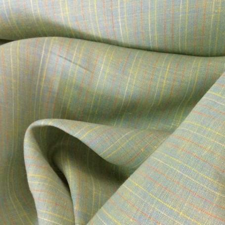 Tissu en lin jaune délavé