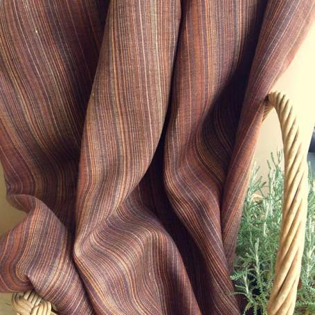 tissu rayé marron tissu d'ameublement