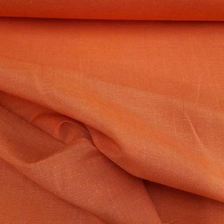 Tissu lin polyester tissu orange