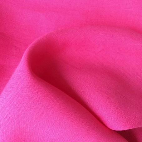 Tissu lin tissu batiste rose