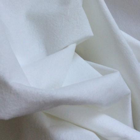 tissu peau de pêche, tissu blanc