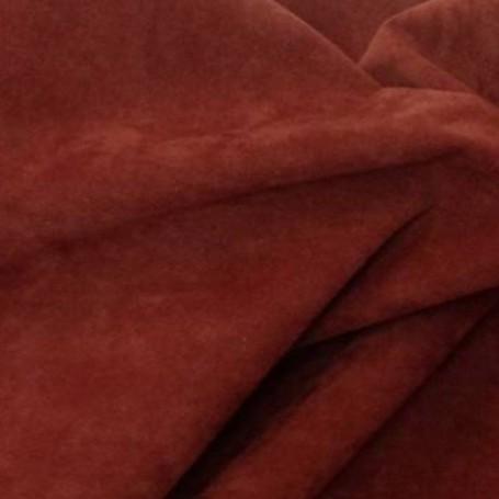 Tissu polyester cuivré effet peau de pêche