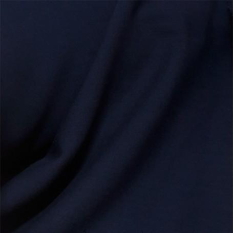 Tissu polyester laine bleu marine
