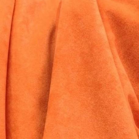 Tissu polyester M1 orange effet peau de pêche