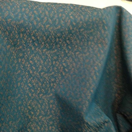 tissu jacquard turquoise