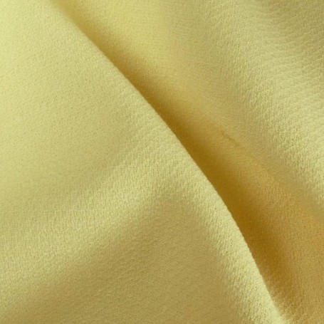 Tissu crepe jaune champagne