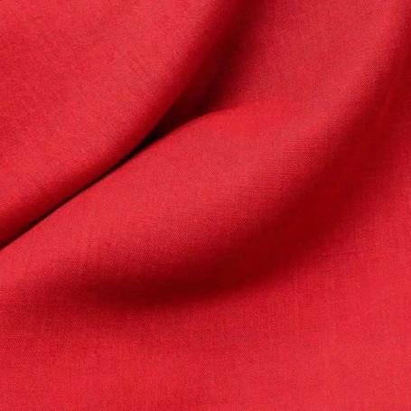 Tissu lin coton tissu rouge