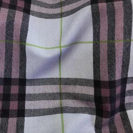 Tissu tartan violet en laine