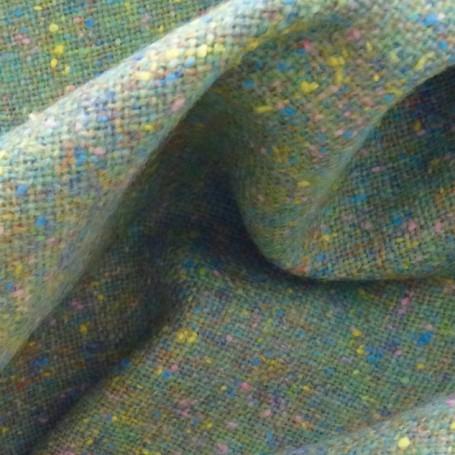 Tissu tweed vert nénuphar