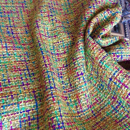 Tissu tweed coloré