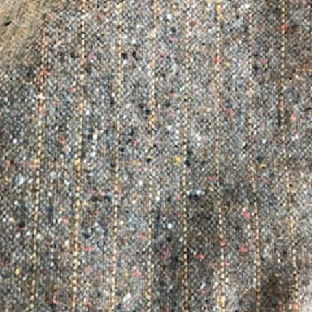 Tissu tweed de laine fines rayures