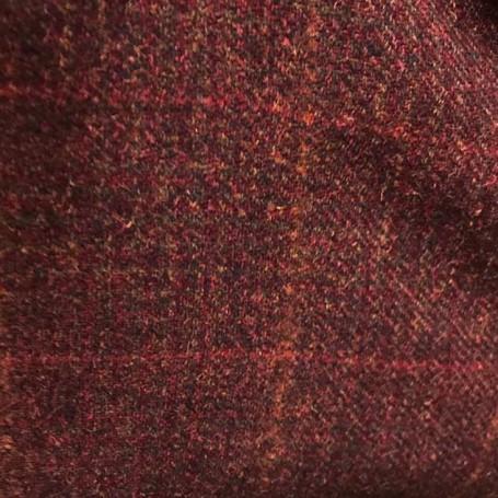 Tissu tweed de laine bordeaux