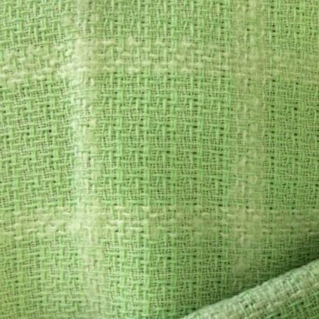 Tissu tweed de laine carreaux vert anis