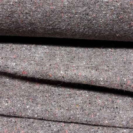 tissu tete de lit Tissu tweed marron glacé