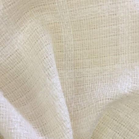 Rideau voilage tissu au metre laine écru