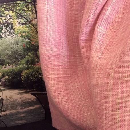 Tissu rose pour ameublement