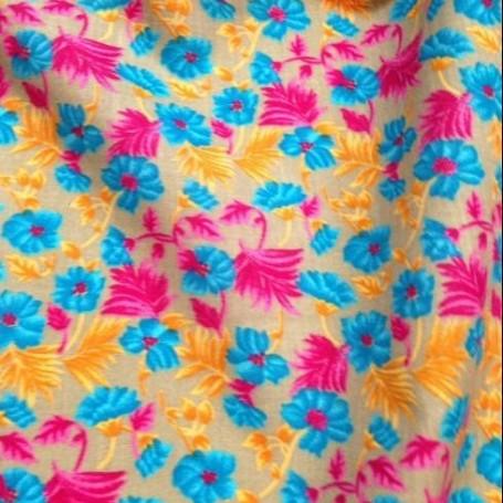 Tissu coton imprimé floral