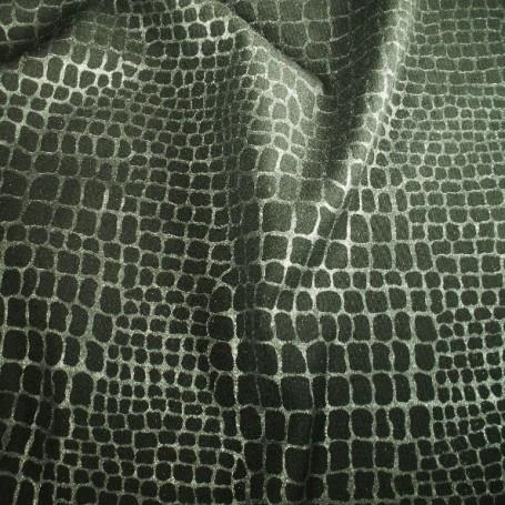 Tissu polyester laine peau de serpent