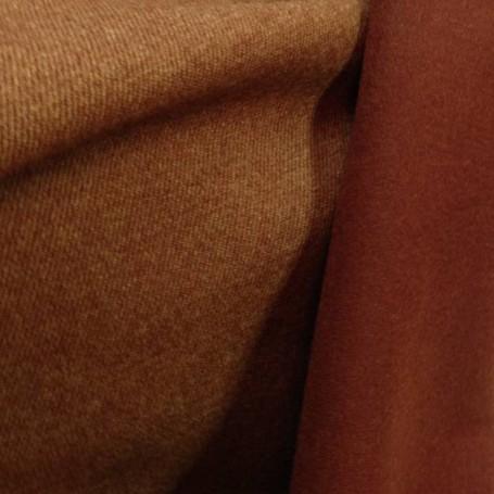 Drap de laine cuivré double face 2 tons