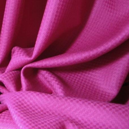Tissu pure laine rose à effet de relief pour jupes, pantalons, vestes